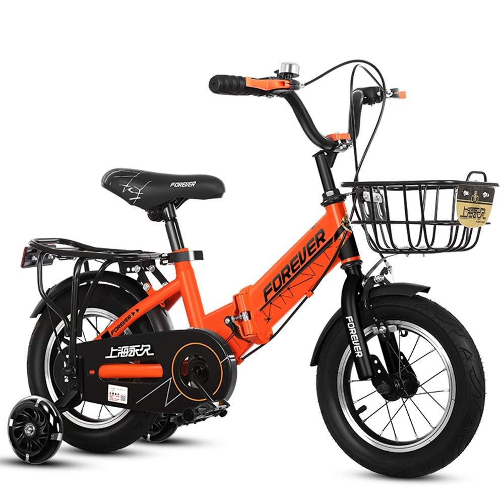 Garantía 100% de ajuste naranja naranja naranja Axdwfd Infantiles Bicicletas Freestyle para niños, Bicicletas, niños y niñas, 12 14 16 18 Pulgadas con Rueda de Entrenamiento, Aptos para niños de 2 a 9 años de Edad, Ciclismo, Color múltiple 12in  artículos novedosos