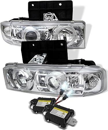 amazon.com: 6000k slim xenon hid kit+95-05 chevy astro van/safari halo  projector head lights: automotive  amazon.com
