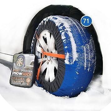 Valise comprenant 2 chaines textile et 1 paire de gants Chaussette neige textile pneu 155//80R14 excellente protection de la jante