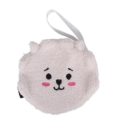 Amazon.com: Bosunshine BTS Wallet, Lady Cute Mini Coin Purse Wallet Clutch Bag (WT): Office Products