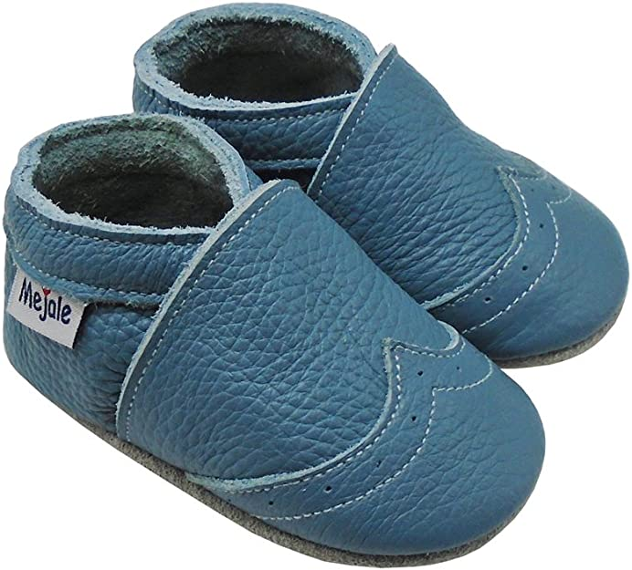 Mejale Baby Shoes Soft Sole Leather Moccasins Cartoon Butterfly Infant Toddler First Walker Slippers
