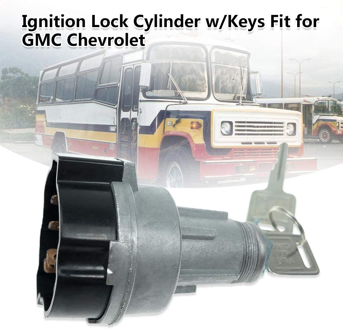 Ignition Lock Cylinder Starter Switch Fits for GMC Chevrolet B6000 ...