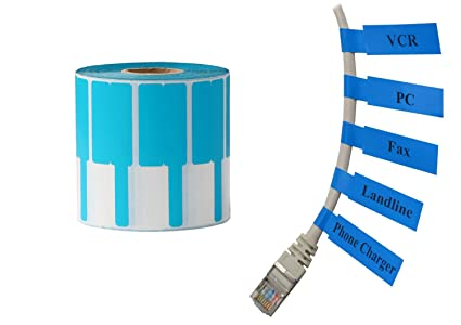 mr-label Cable Labels (1000 etiquetas por rollo) rollo de ...
