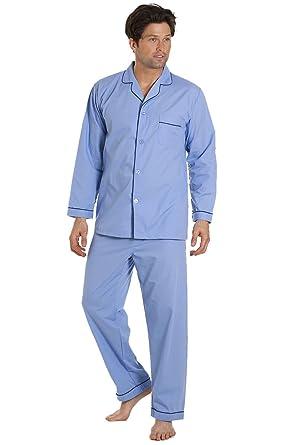 Haigman Nightwear Mens Sky Blue Long Sleeve Pyjama Set Suit with Trousers   Haigman  Amazon.co.uk  Clothing de508c045