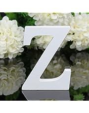 Freeas Décoratif Bois Lettres, 26 Alphabet Blanc Lettres en Bois pour Déco Nom des Enfants Fête d'anniversaire de Mariage Décoration de Maison et de Chambre à Coucher