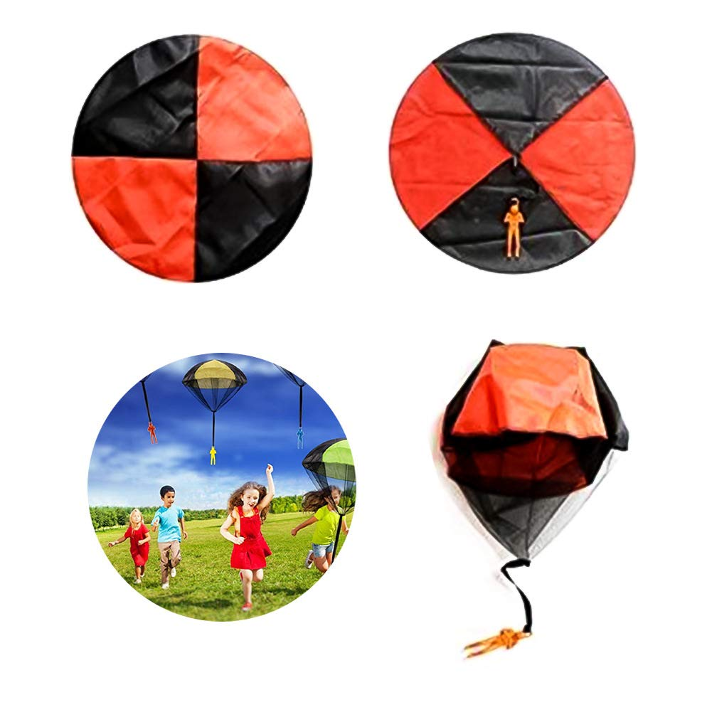 SGQCAR 4 Pieces Parachute Toys Tangle Free Throwing Hand Throw Soldiers Toss It Up and Watching Landing Outdoor Toys