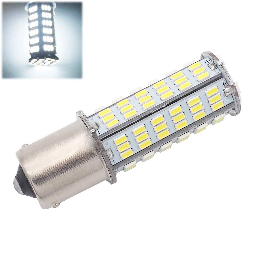GRV BA15S 1156 1141 LED bulb 126-3014 SMD AC//DC 11-24V 4W High Bright Warm White Pack of 2