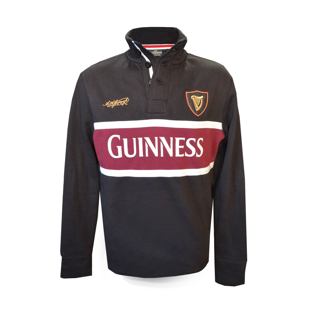 Guinness Long Sleeve Polo Shirt (Large) G5133