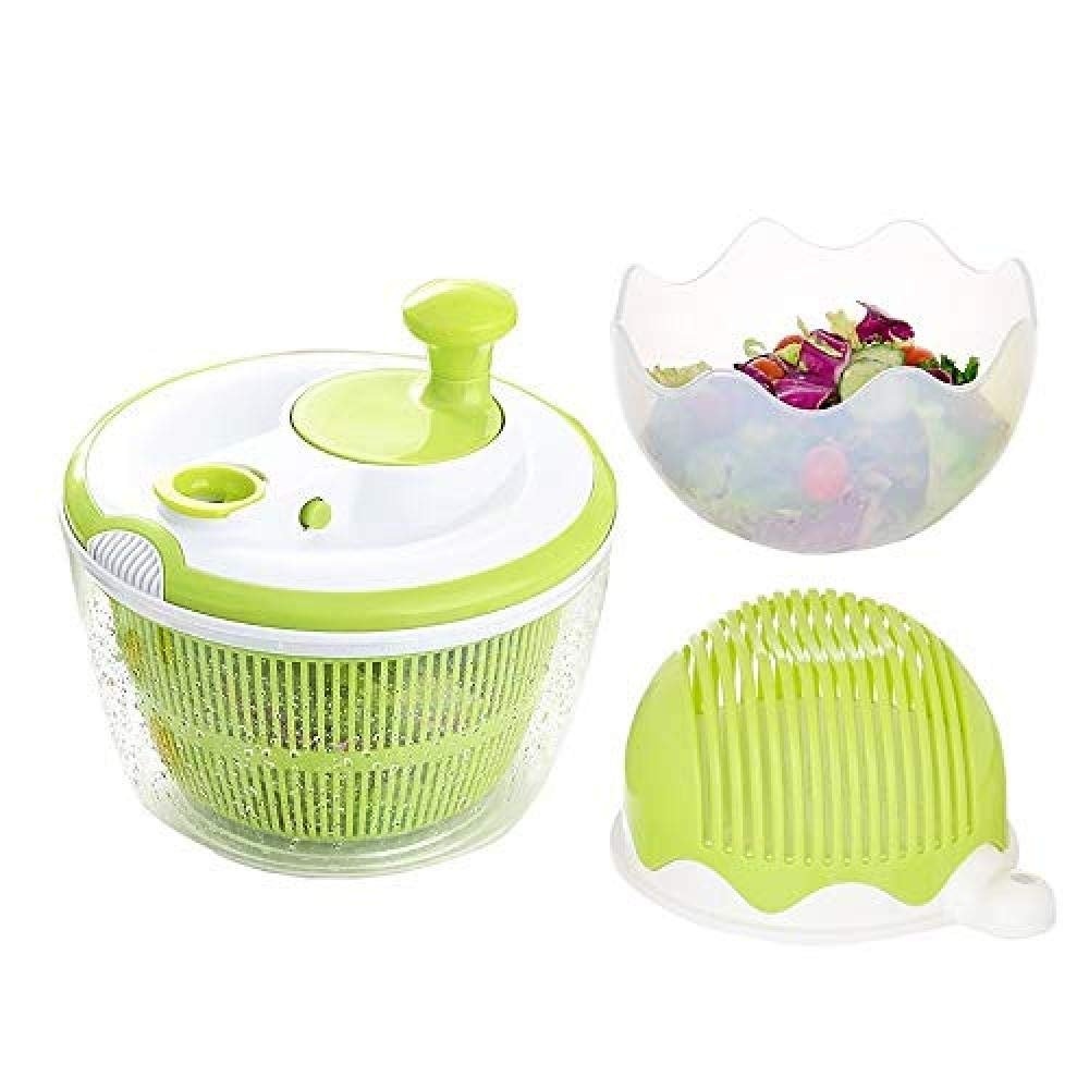 SJXmeet Manual Vegetable And Fruit Sinks Creative Kitchen Large Household Rotating Double-Layered Vegetable Drain Basket Washing Vegetables Dehydrated by SJXmeet