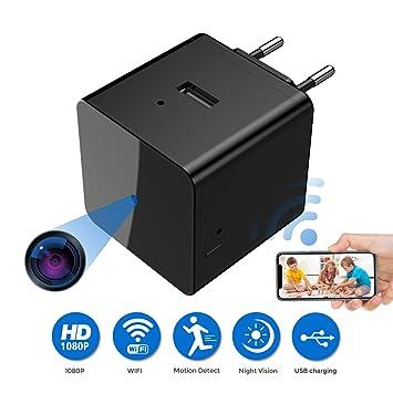 Mini cámara espía, mini cámara ocultada 1080P HD, cámara de la niñera, cámara minúscula del espía ...