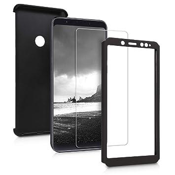 kwmobile Funda para Xiaomi Redmi Note 5 (Global Version) / Note 5 Pro - Carcasa Protectora Completa con Cristal Templado - Cover con Protector de ...