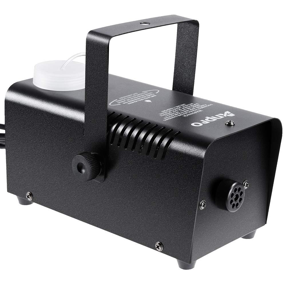 Anpro Fog Machine 400W-Professional Smoke Machine with Wireless Remote Control for Christmas Parties, Weddings, Dance and Drama