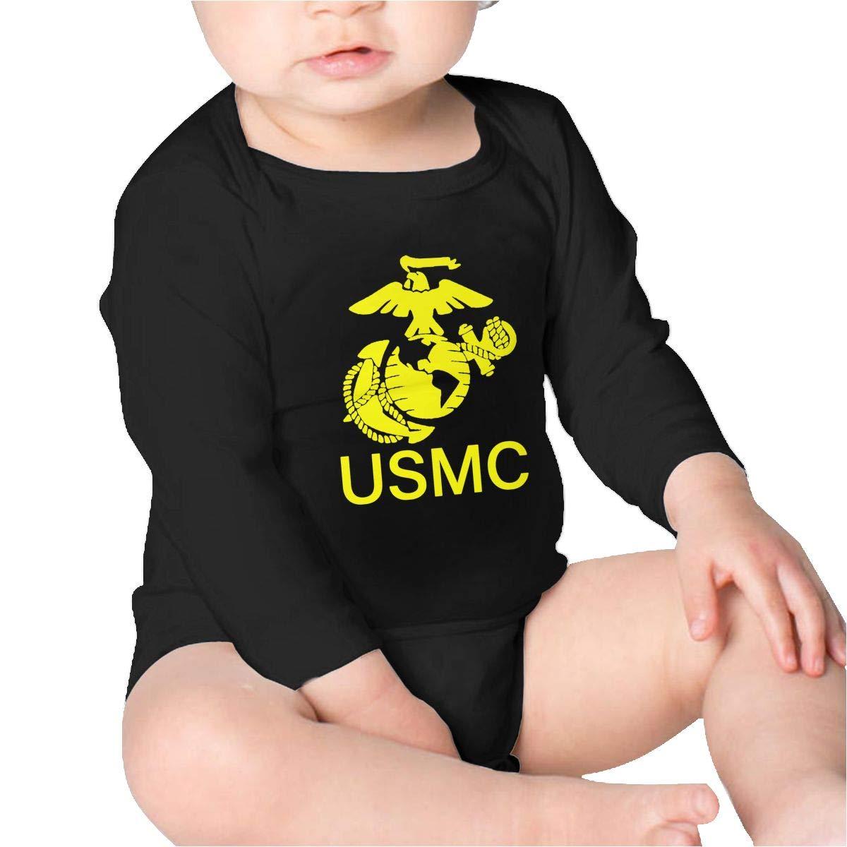 Pikaqiuleilei USMC Marine Corp Toddler Cotton,Long Sleeve Infantile Suit