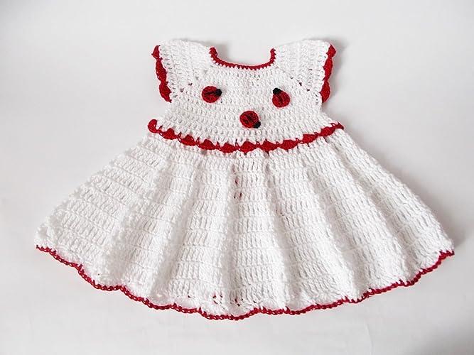 Amazoncom Crochet Baby Dress Newborn Dresses Knit Baby Dress