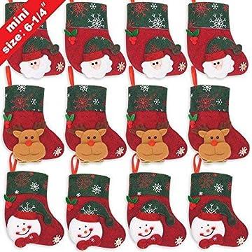 40950b9f1 Amazon.com  LimBridge 12pcs Mini Christmas Stockings Gift   Treat ...