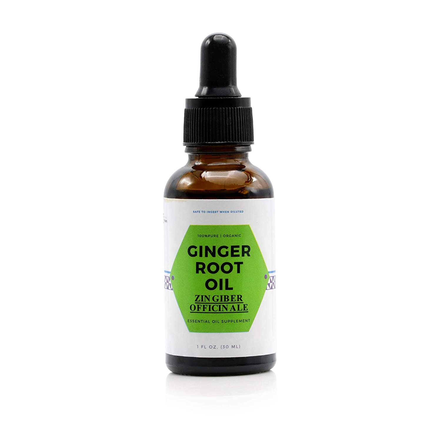 Lymphatic Ginger Root Essential Oil Large 30ml - Undiluted | Good for Aromatherapy, Baths, Arthritis & Nausea