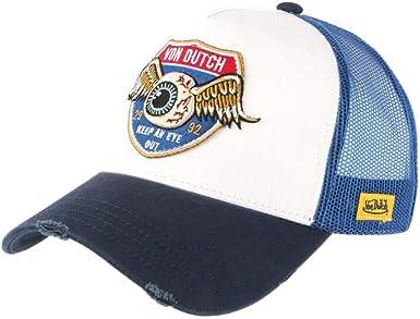 Von Dutch - Gorra de béisbol, Color Blanco y Azul Blanco Talla ...