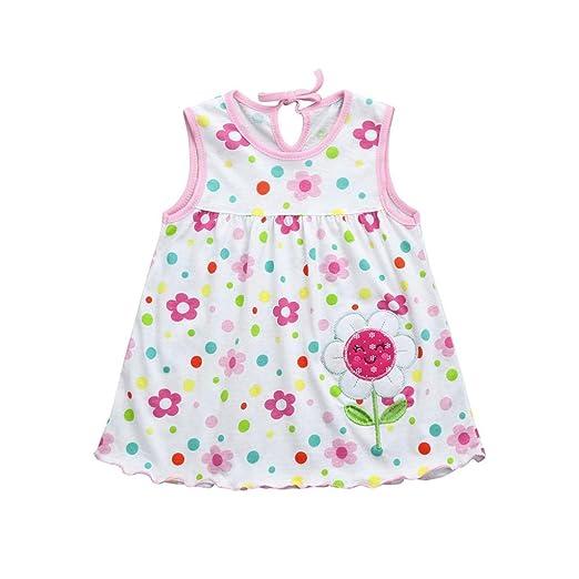 dfcef6c92d5 FAPIZI Clearance Toddler Cute Baby Girls Dress Cotton Flower Children Dot  Print Sleeveless Tees Dress Cotton