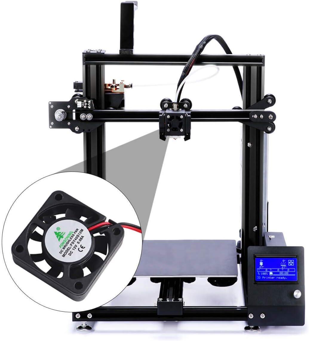 Makerfire 4pcs Impresora 3D Ventilador 12V 0.08A DC Ventilador ...