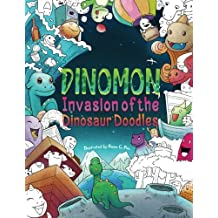 Dinomon — Invasion of the Dinosaur Doodles: Adult Coloring Book — Color and Relax in the World of the Dinomon