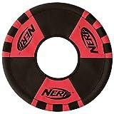 Nerf Dog Trackshot Toss and Tug Flying Ring Dog Toy, Medium, Red