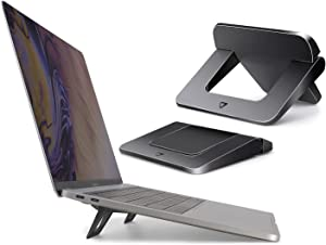 Laptop Stand for Desk, Protable Laptop Stand, Invisible Ergonomic Computer Holder Bracket Laptop Riser, Foldable Stands Compatible with MacBook Air Pro, Dell XPS, Lenove, HP More