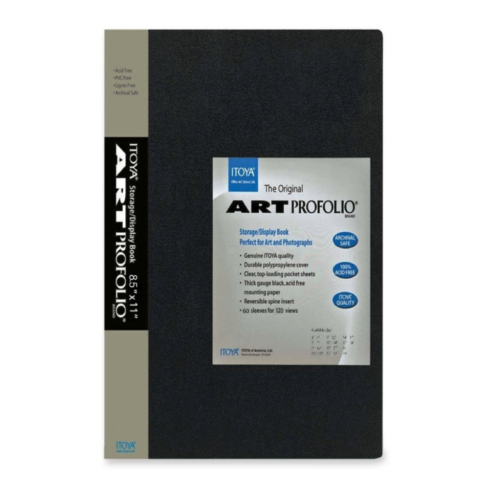 Itoya Archival Art Profolio Presentation Book - 60 - 8.5 x 11 Inches Pocket Pages, 120 Views) by ITOYA