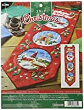 Bucilla Felt Applique Home Decor Kit, 8.5 by 32-Inch, 86684 Happy Holidays Banner