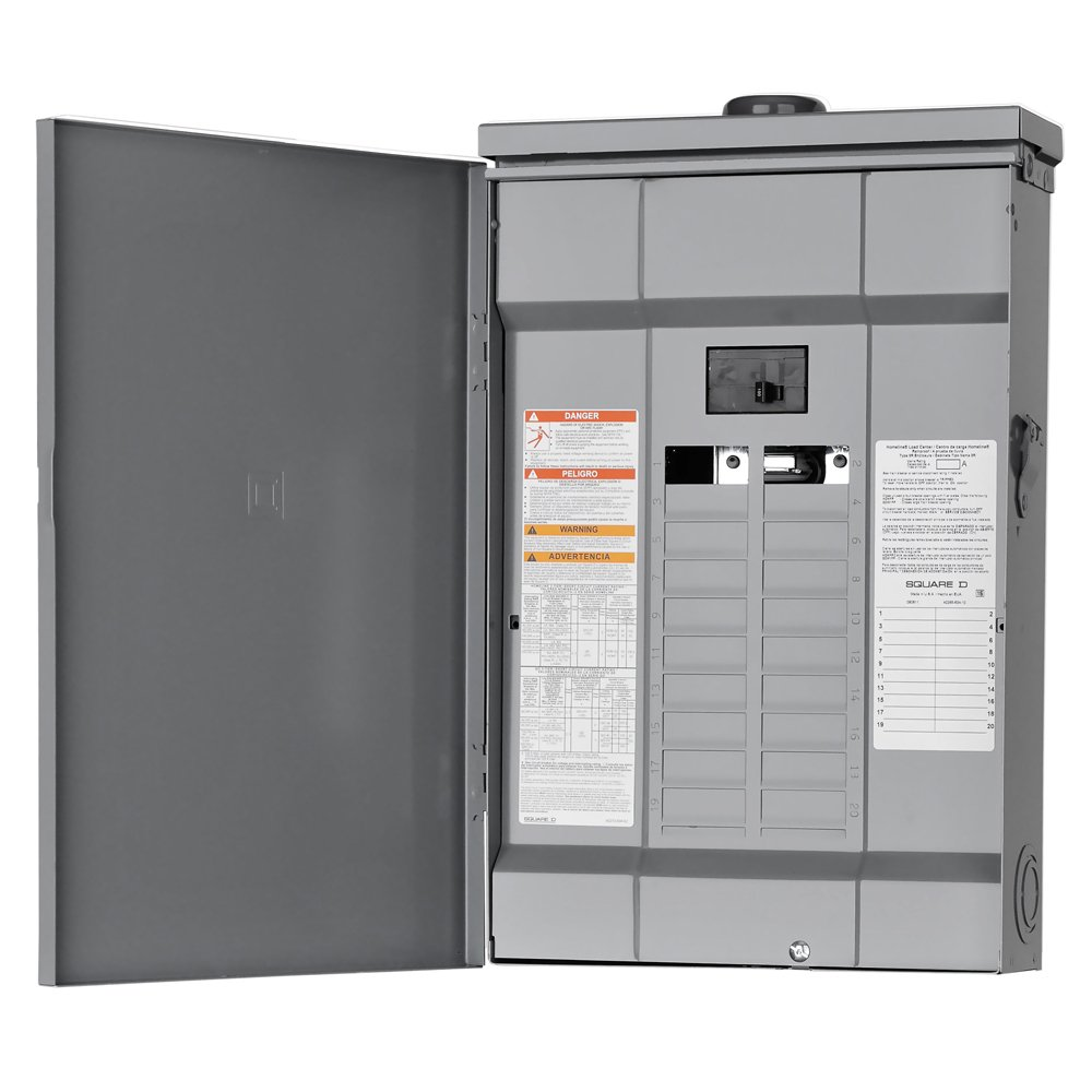 Square D by Schneider Electric HOM20M100RB Homeline 100-Amp 20-Space 20- Circuit Outdoor Main Breaker Load Center - Circuit Breaker Panels -  Amazon.com