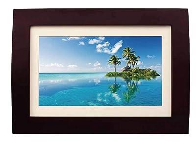 Sylvania SDPF1089 10-Inch LED Multimedia Wood Finished Digital Photo Frame