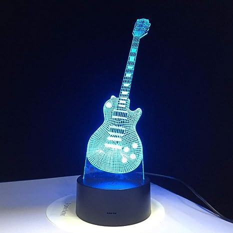 Sproud Guitar Night Light - Lámpara LED | Lámpara de ilusión ...