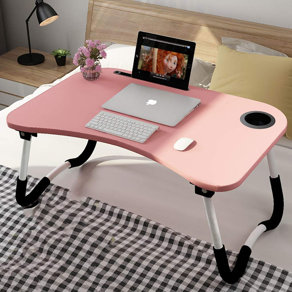 D Notebook Stand Desk Folding Table Computer Desk Bed Small Table Student Dorm Room Learn Desk (color   D)