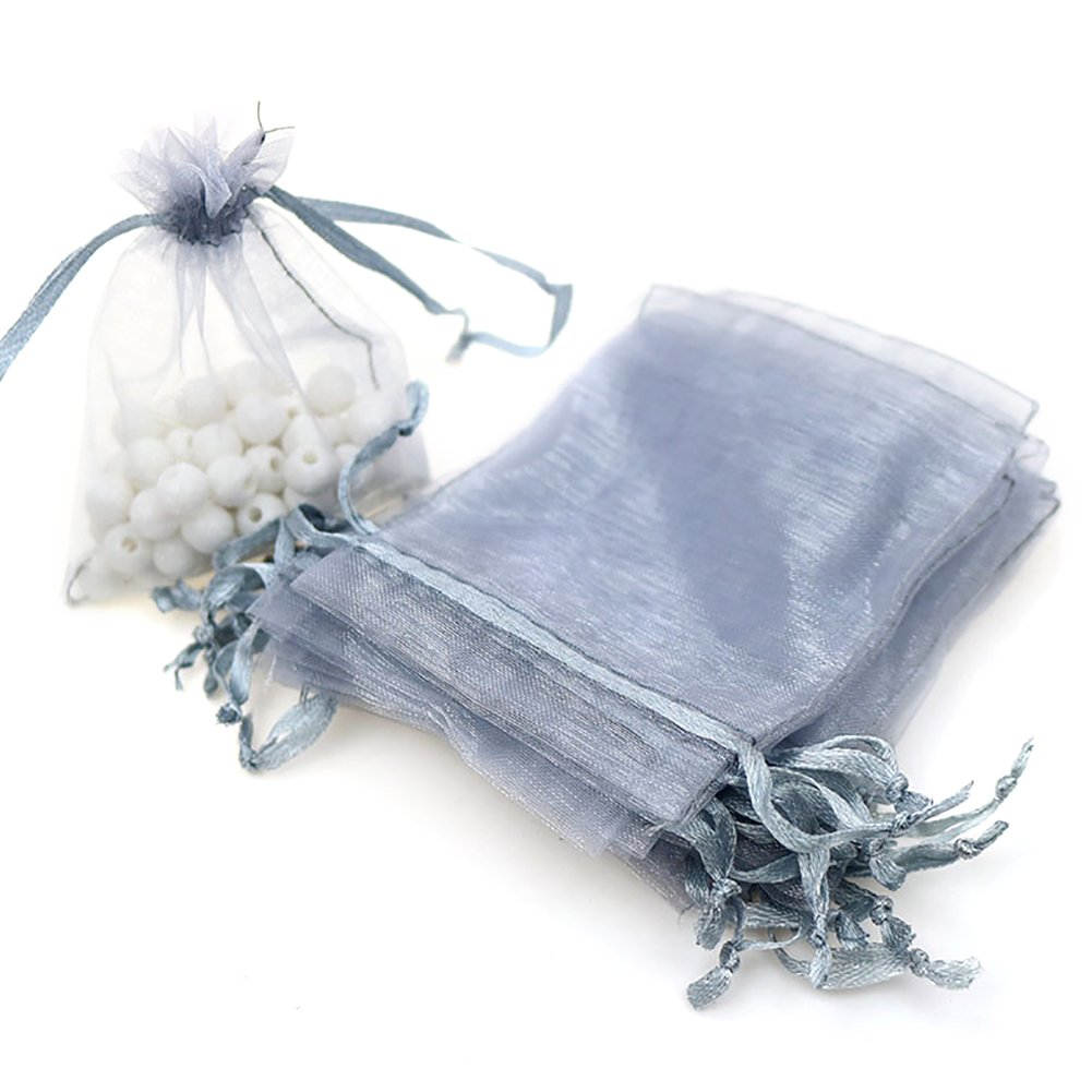 Aspire 200 Pieces Organza Drawstring Pouch Bags, 3 1/2 x 4 3/4 Inch Gift Bag/Party Favor Bag-Assorted
