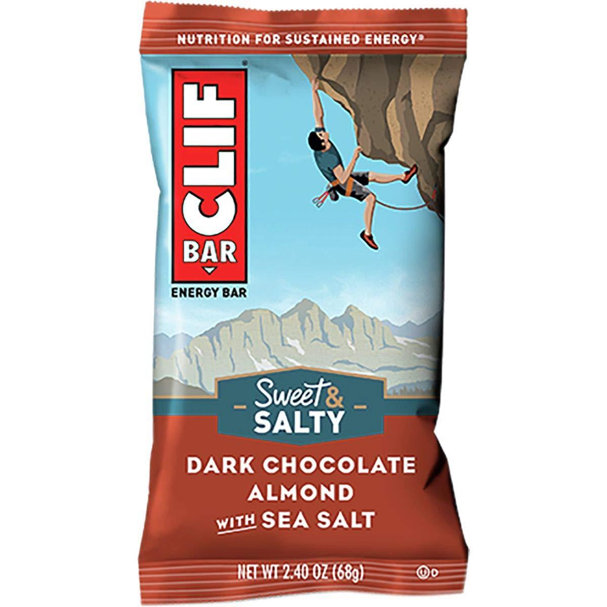 Clifbar Clif Bars - 12 Pack Dark Chocolate Almond w/Sea Salt, One Size by Clif Bar