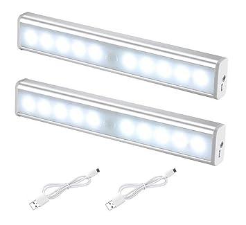 Sensor de movimiento, Carryme [2 Pack] 10 LED de larga duración sin cable