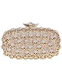 Fawziya Skull Pattern Hard Shell Box Clutch Women Evening Party Bag