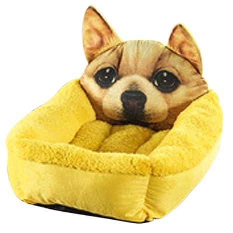 CHAGANA Cartoon Cojines para Perros Gatos – Cesta de Tela algodón cálido colchón Animales Mignon