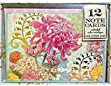 Punch Studio Set of 12 Boxed Blank Note Cards ~ Pink Floral Garden 94963
