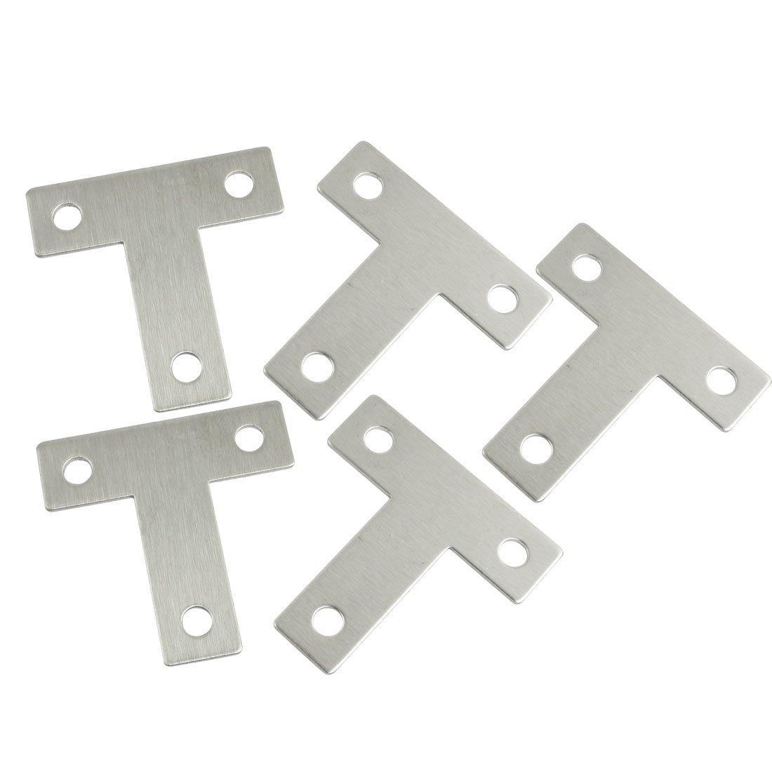 uxcell 5 Pcs Angle Plate Corner Brace Flat T Shape Repair Bracket 40mm x 40mm a13022500ux0169