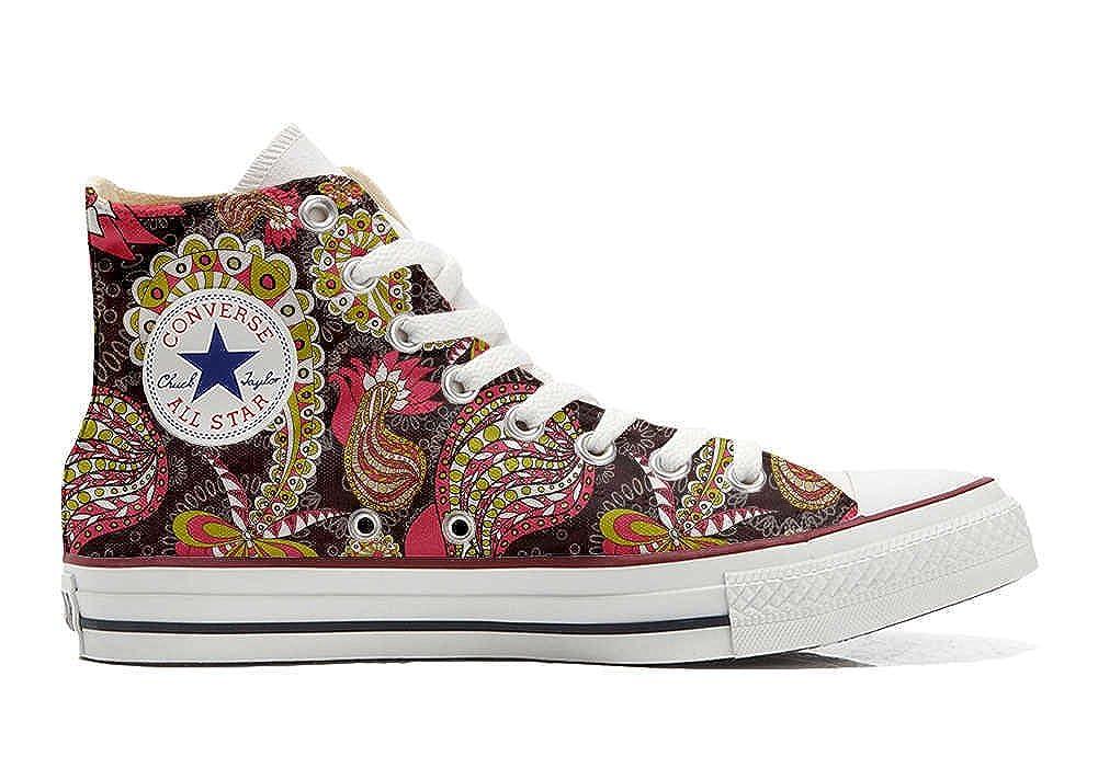 mys Converse All Star Customized Unisex - Personalisierte Schuhe (Handwerk Produkt) Vintage Paysley