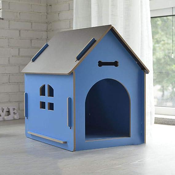 Lonshi Gato Mascota Perro casa de Madera Gato casa Perrera al Aire Libre Poncho extraíble y Lavable: Amazon.es: Hogar
