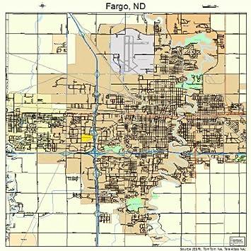 Amazoncom Large Street Road Map of Fargo North Dakota ND