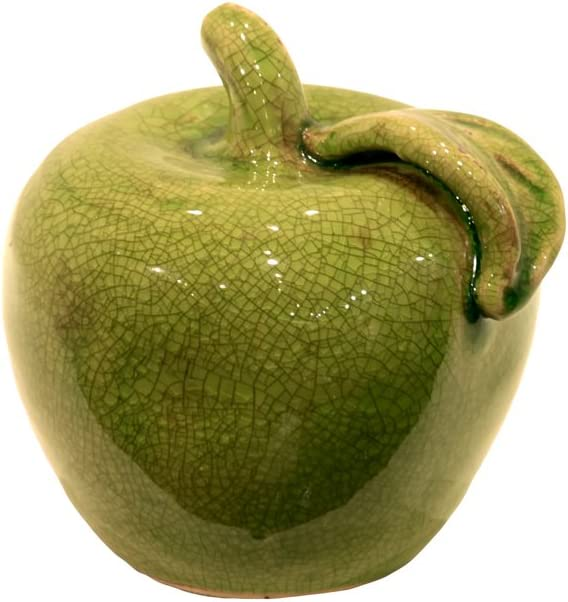 Urban Trends 28028-UT Decorative Ceramic Apple Green Small