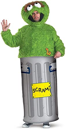Oscar The Grouch Adult Costume X Large