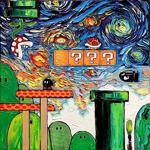 80s Cool Art - Gamer Wall Art Print Video Game Poster Retro decor van Gogh Never Played With Fire - Art by Aja choose size and type of paper