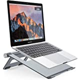 Nulaxy Portable Laptop Stand, Aluminum Cooling Stand with Heat-Vent, Adjustable Laptop Holder Riser (A-Space Grey)