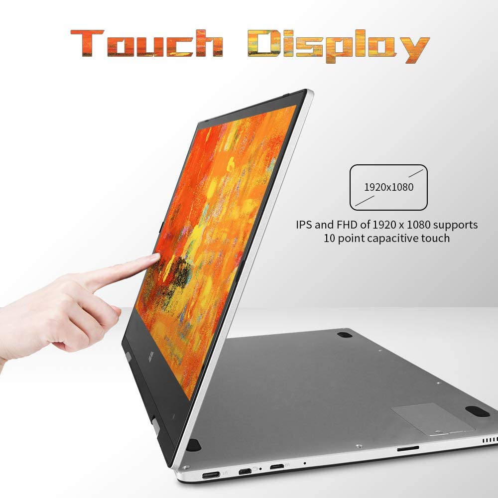 2 in 1 Laptop Jumper x1 Windows 10 Laptop FHD Touchscreen Display Laptop Computer 11.6 inch 6GB RAM 128GB ROM: Computers & Accessories