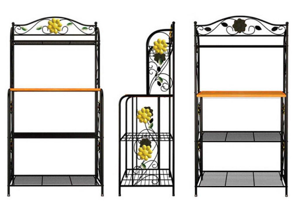 Home Kitchen Baker's Rack Utility Microwave Stand Storage Cart Workstation Shelf