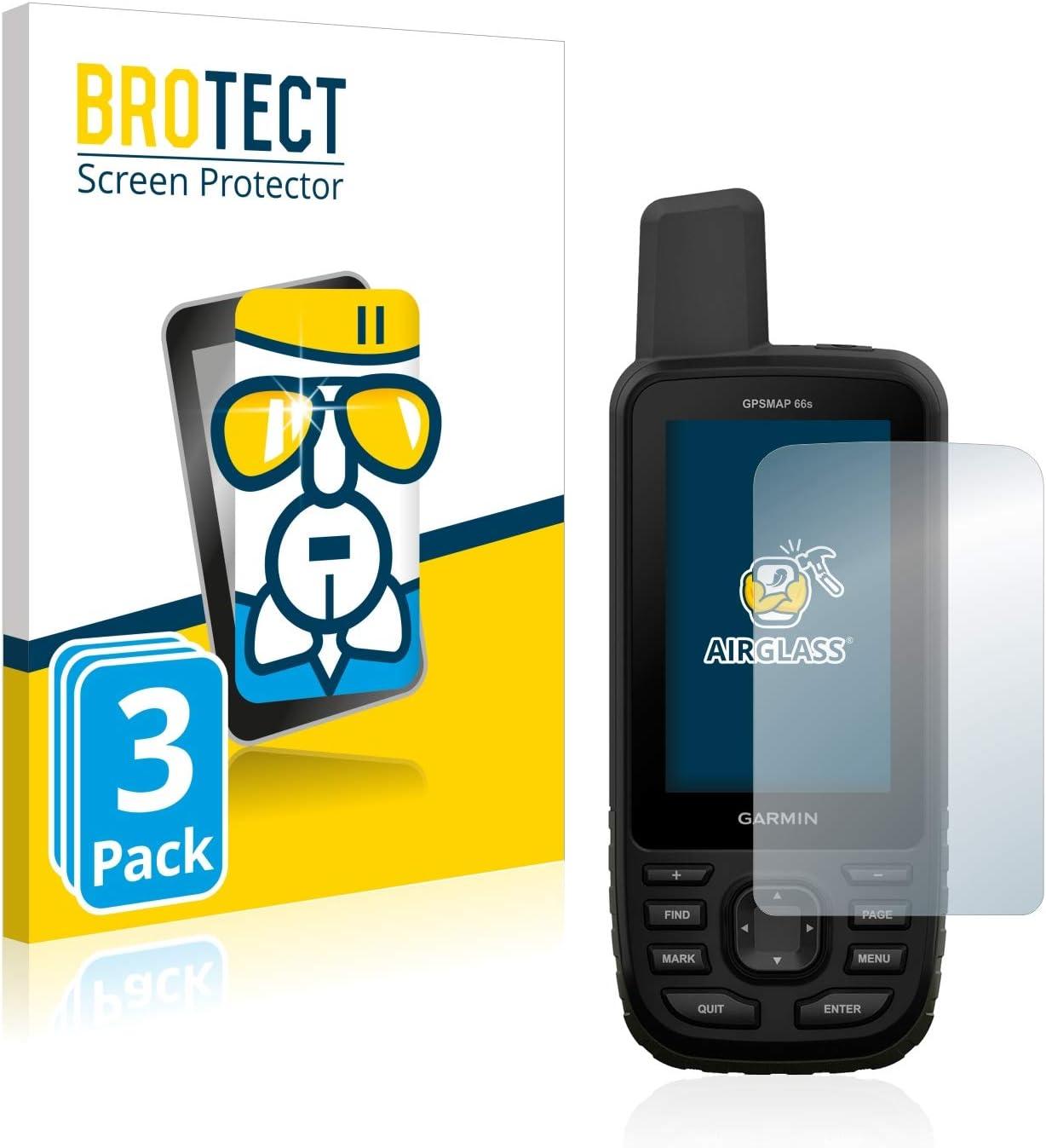 BROTECT Protector Pantalla Cristal Compatible con Garmin GPSMAP 66s / 66st Protector Pantalla Vidrio (3 Unidades) Dureza 9H AirGlass