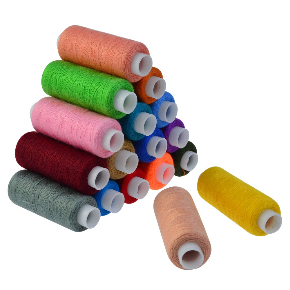 30 Assorted Color Polyester Sewing Thread Spools 250 Yards